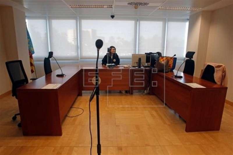 Imagen de archivo de una sala de vistas judicial.