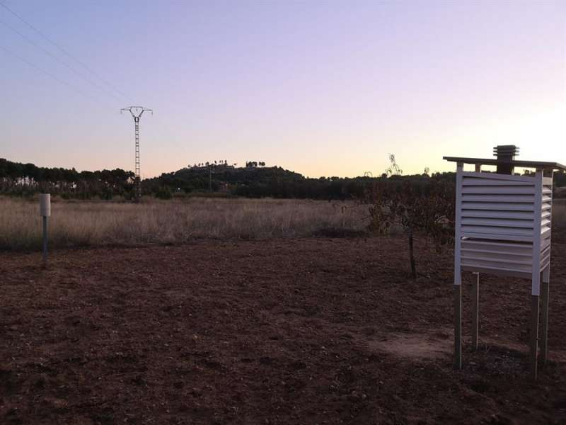 Imagen del orbservatorio de Aemet-la pailla en Chiva publicada por Meteochiva en las redes sociales.