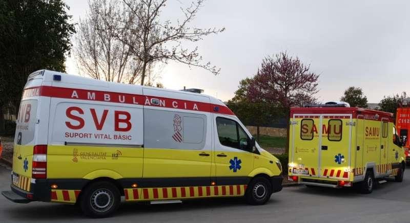 Dos ambulancias de la Generalitat Valenciana