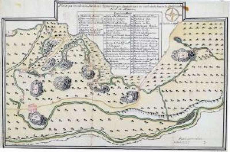 Plano antiguo de la acequia de la Esperanza