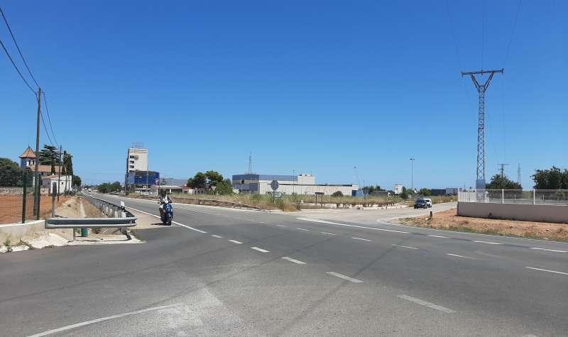 Intersección donde se prevé construir la rotonda
