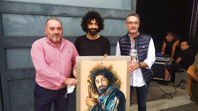 Ara Malikian con Vicente Pallarés y Pepe Mingol/EPDA