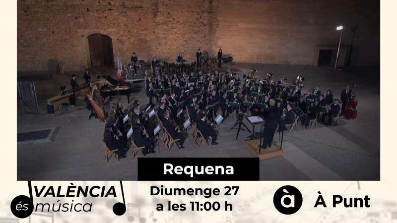 La Sociedad Musical Santa Cecilia de Requena este domingo en À Punt
