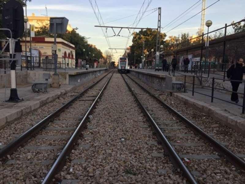 Foto de archivo de las vías del tren. EPDA