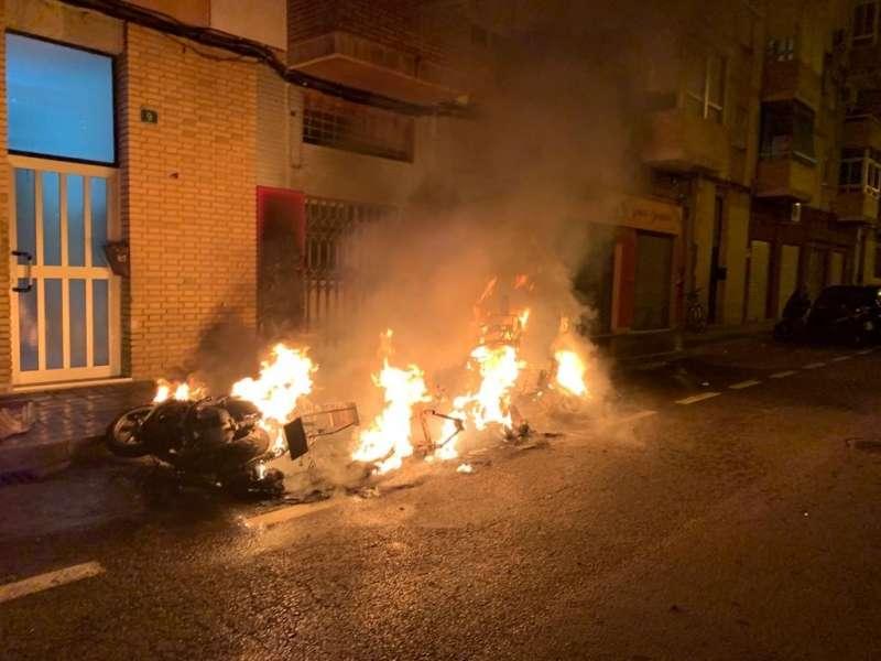 Imagen del incendio. / EPDA