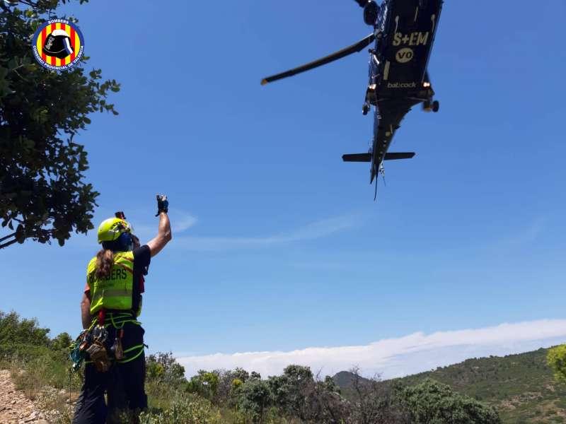 Imatges del rescat a la Serra. EPDA.