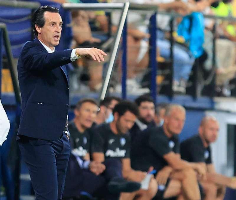 El entrenador del Villarreal Unai Emery espera poder celebrar la primera victoria de la temporada ante el Real Mallorca. EFE/Archivo/Domenech Castelló