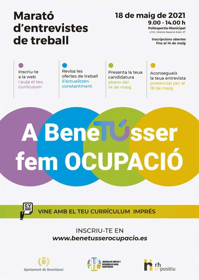 Cartel del Foro de Empleo del Ayuntamiento de Benetússer.