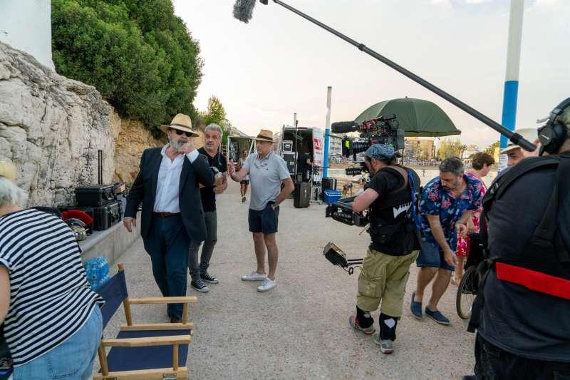 Momento del rodaje del documental en la playa de las Viudas de Peñíscola, en una imagen de David Celma facilitada a EFE.