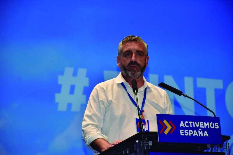 Carlos Gil durante el congreso del PP de la provincia de València.