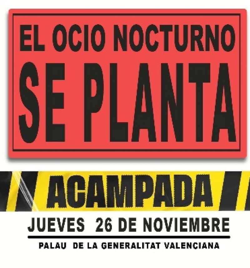 Cartel de protesta del sector hostelero. / EPDA