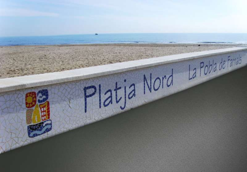 Paseo de la playa de La Pobla de Farnals. EPDA