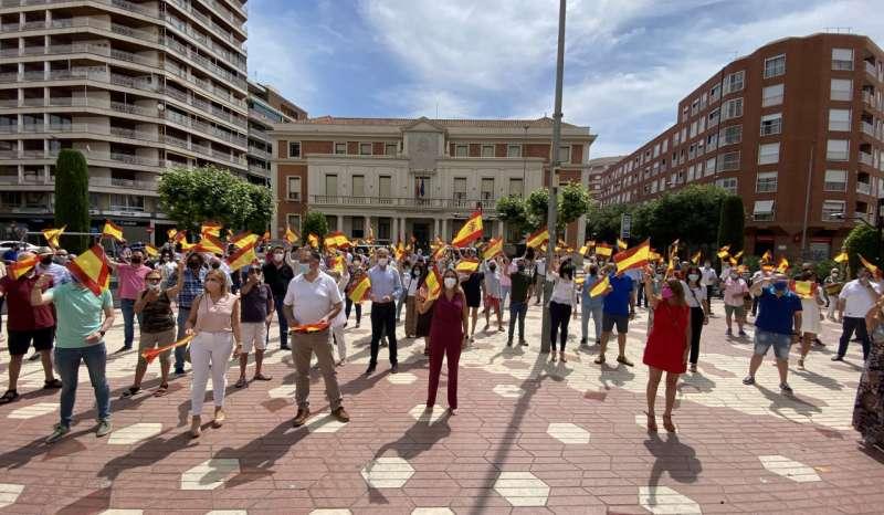 Manifestación contra los indultos de Pedro Sánchez