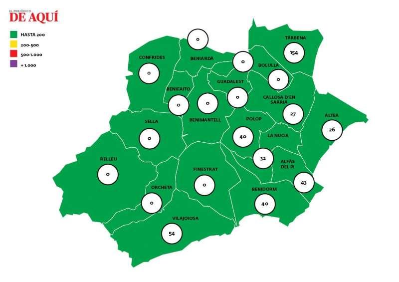 Mapa de incidencia acumulada/EPDA