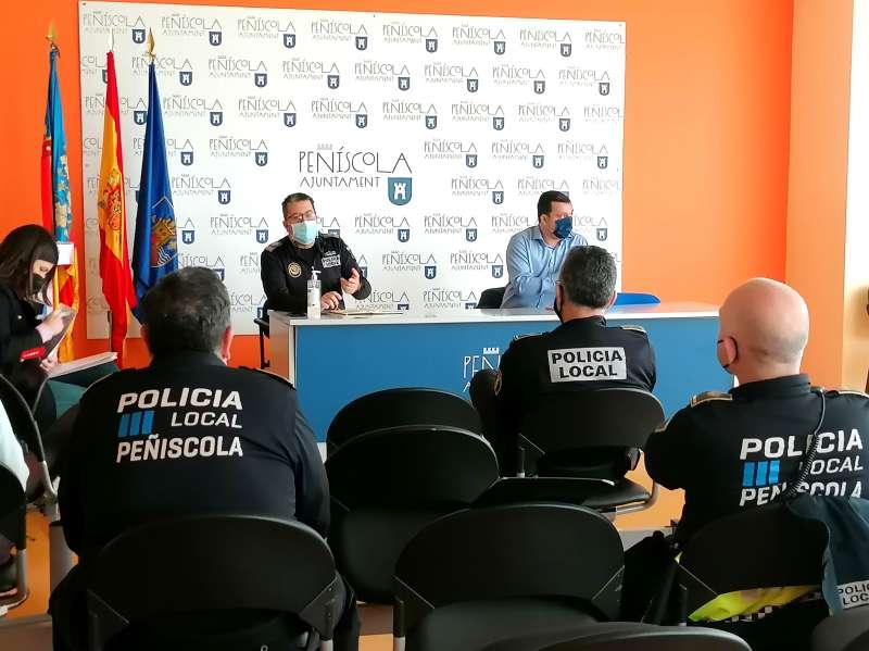 Reunion Cuerpos de Seguridad en Peñíscola