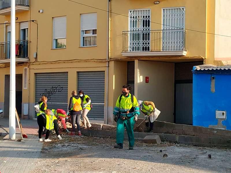 Trabajos de limpieza. / EPDA