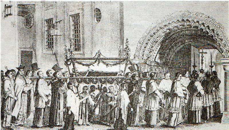 Funeral en Valencia por Fray Isidoro Aliaga. EPDA