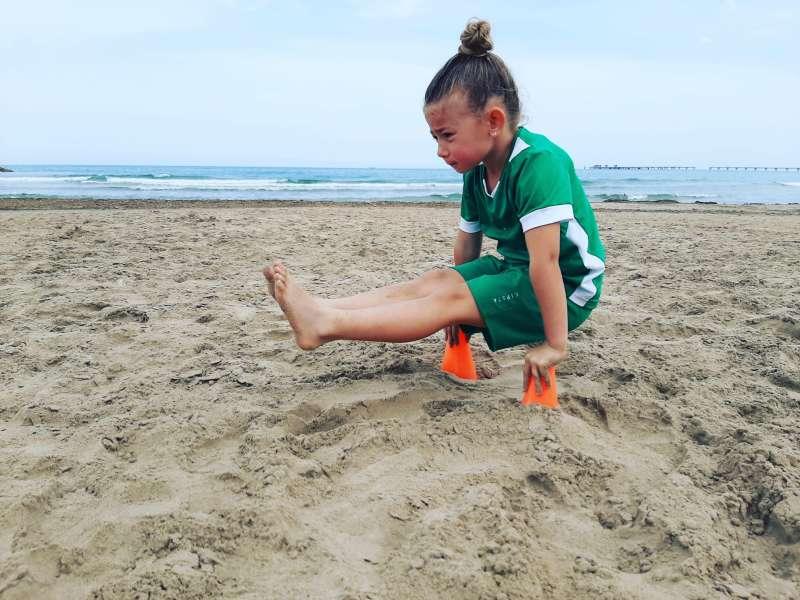 Suhaila en la playa. EPDA.