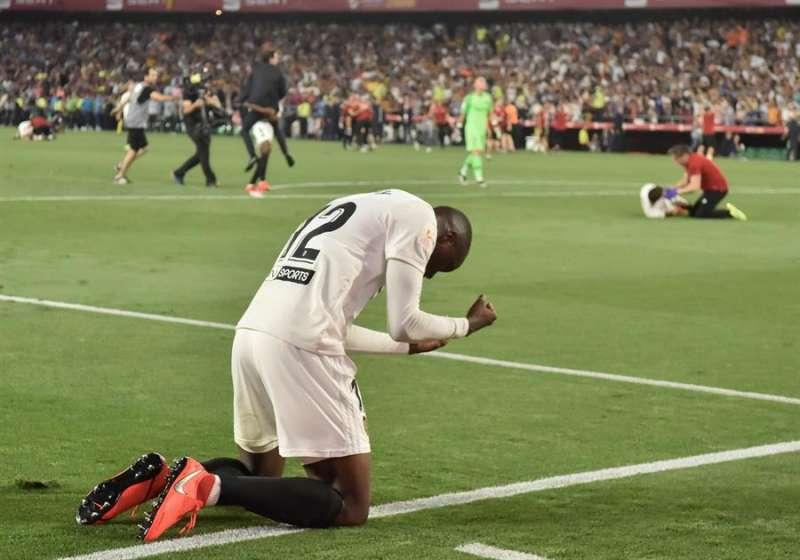 El defensa francés del Valencia FC Mouctar Diakhaby. EFE