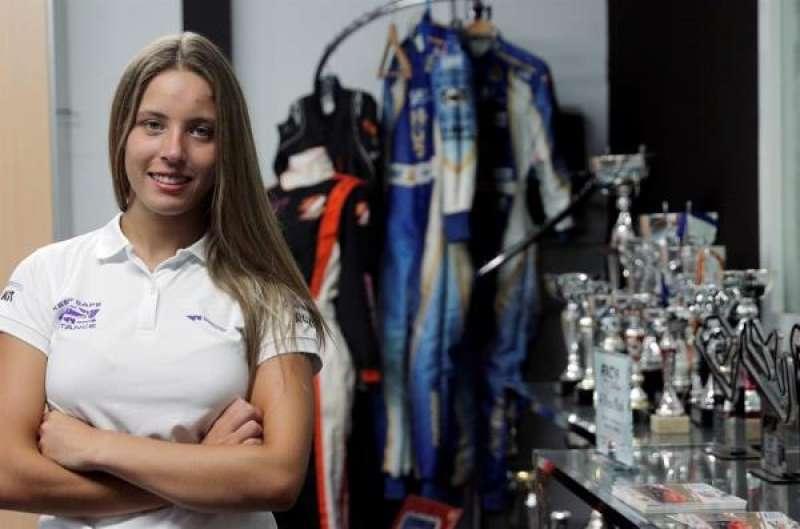 La piloto valenciana Nerea Martí logró su primer podio en el CEK. EFE./ EPDA
