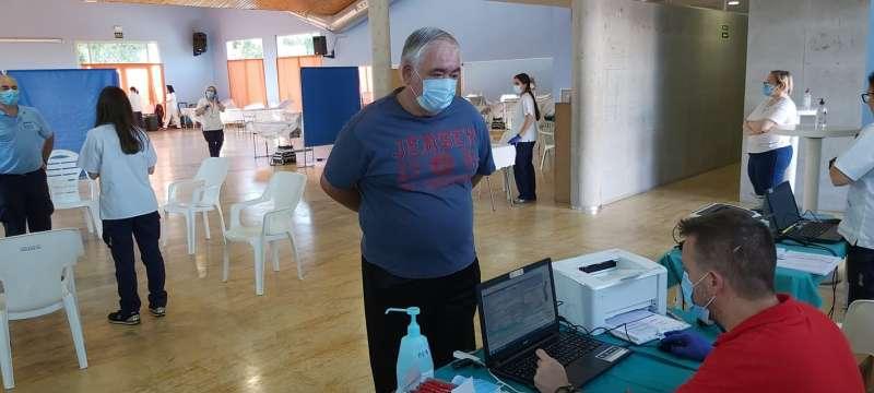 José Subiela, vecino de Benaguasil y asiduo donante también participó en la maratón solidaria. / EPDA