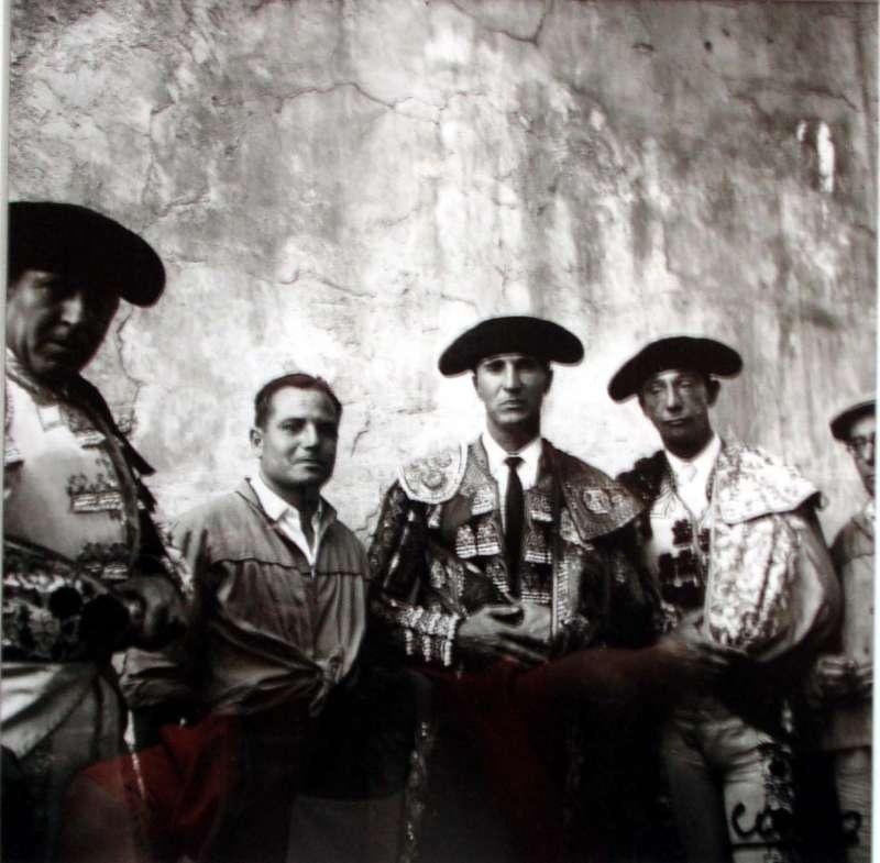 Canito con toreros de la época