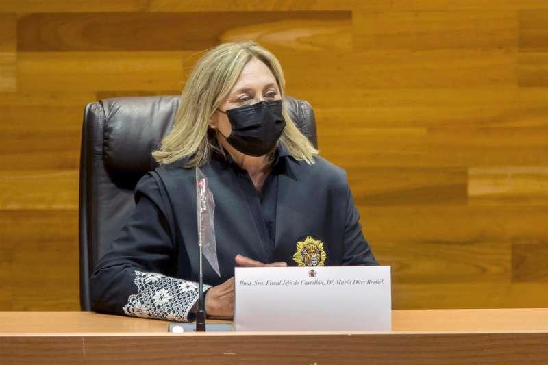 María Díaz Berbel durante el acto de toma de posesión como nueva fiscal jefe de la Audiencia de Castellón.EFE