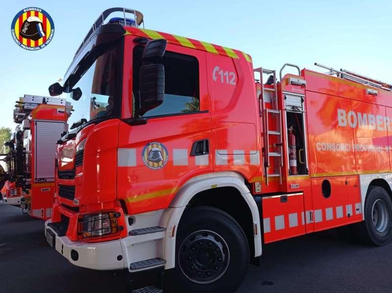 Imagen de archivo de una dotación de bomberos