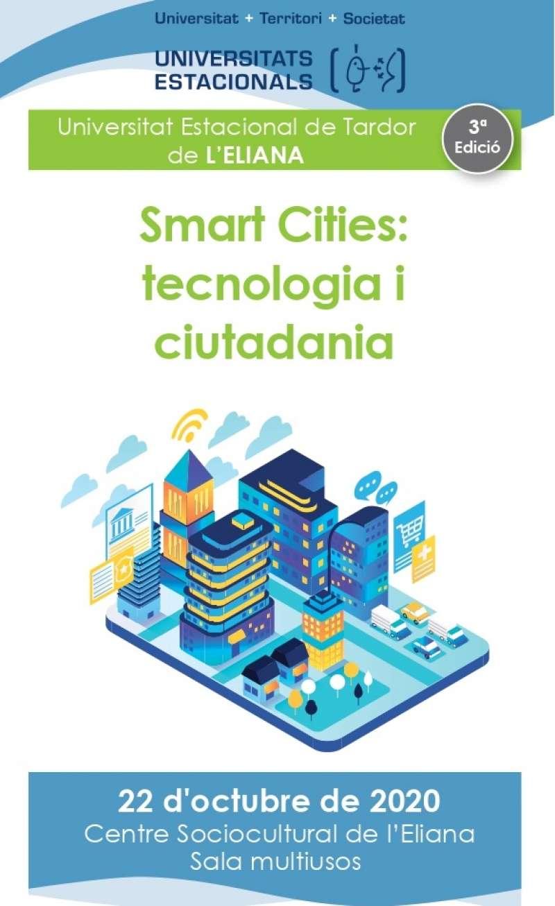 Cartell promocional de les jornades de Smart Cities. / EPDA