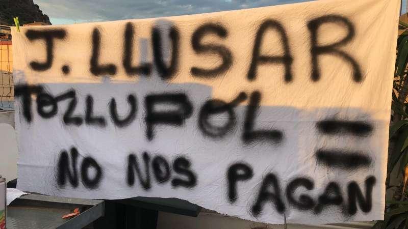 Protestas por los impagos en la empresa Joaquín Llusar. EPDA