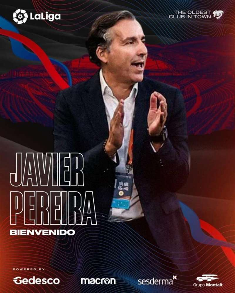 Javier Pereira será el nuevo entrenador del Levante. Imagen facilitada por el Levante UD.