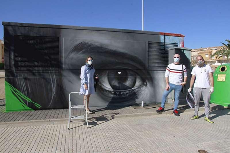 Uno de los grafitis