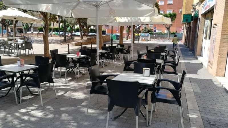 Terraza de un bar de Paterna. EPDA