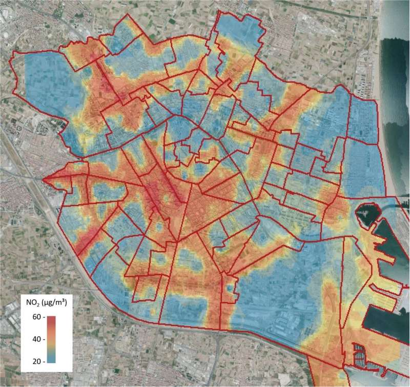 Calidad del aire en la ciudad de Valencia. EFE