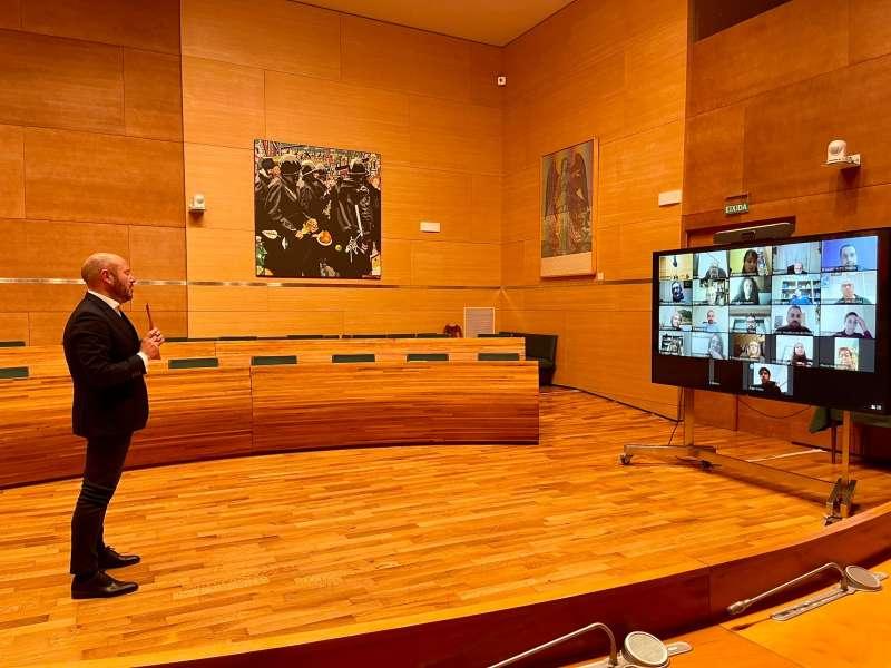 Gaspar habla con alcaldes de la Serranía y Ademuz. EPDA
