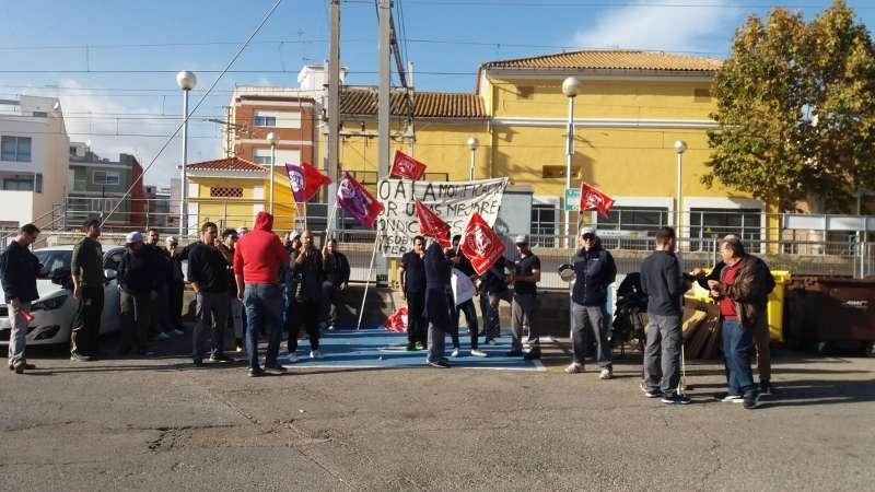 Concentración de los empleados de Mitsubishi. EPDA