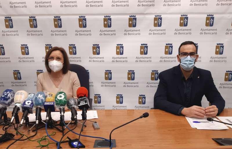 Roda de prensa de Xaro Miralles Alcaldessa de Benicarló