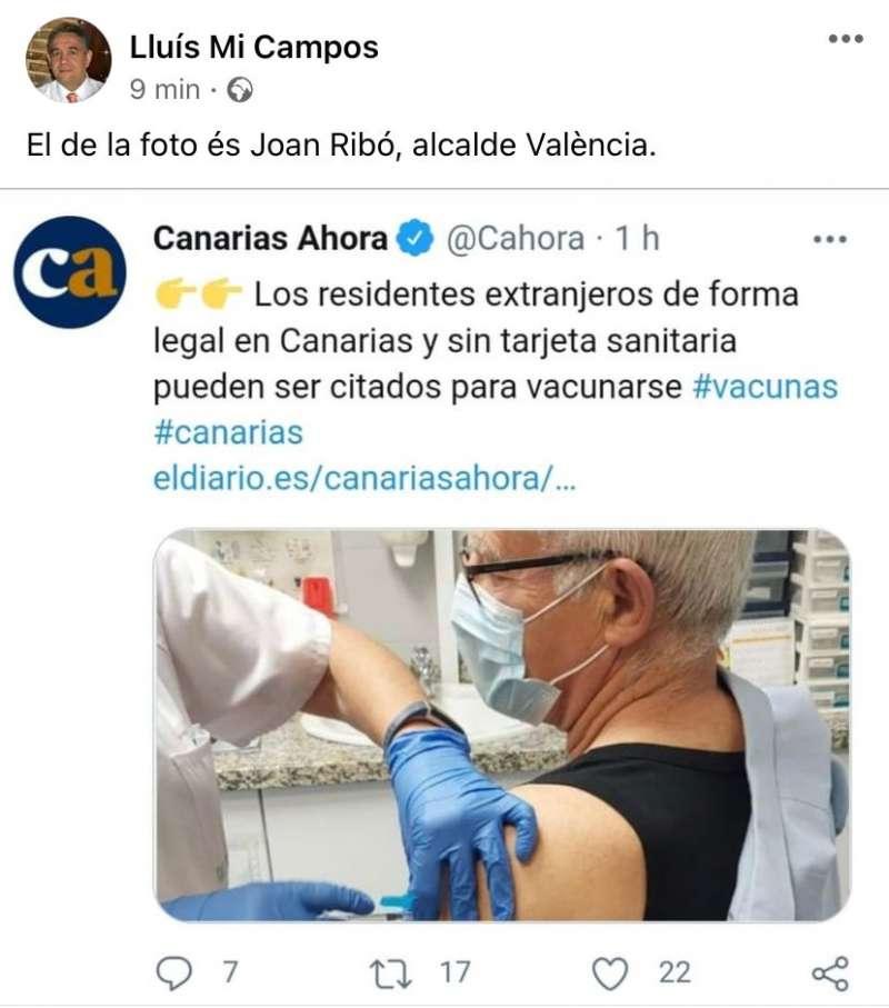Ribó, inmigrante extranjero para un periódico de Canarias.