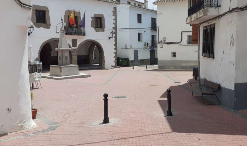 La plaza mayor peatonalizada