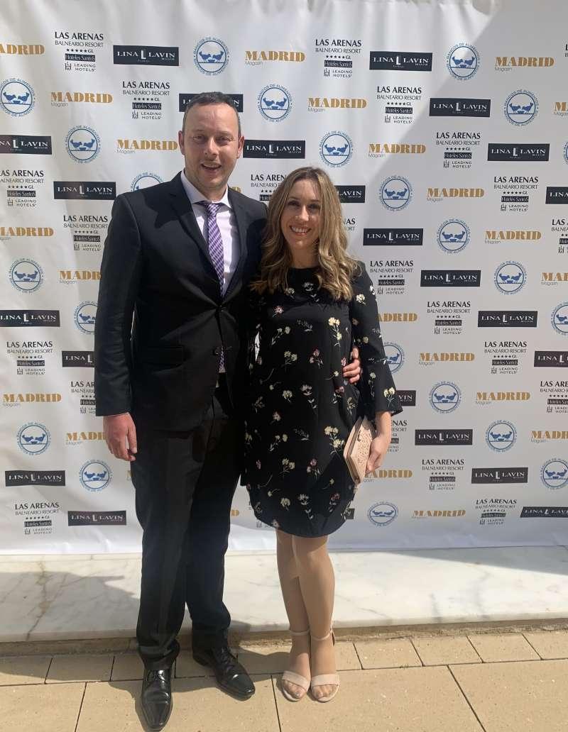 Pedro Albares y su esposa Yolanda Martínez en la gala
