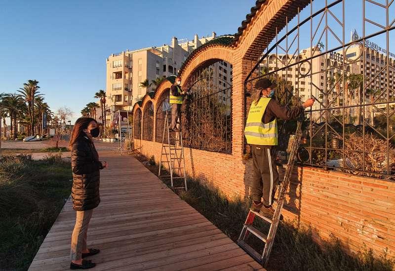 Obras en el Parque Amplàries