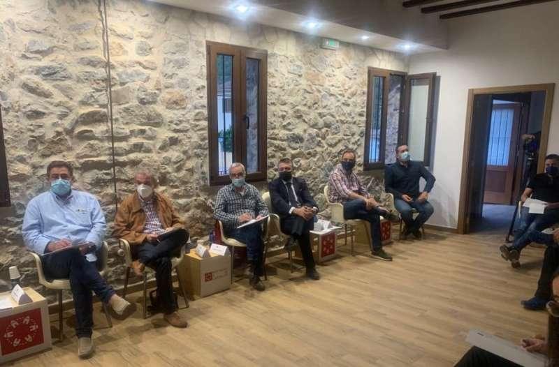 Representantes del Mijares en la reunión