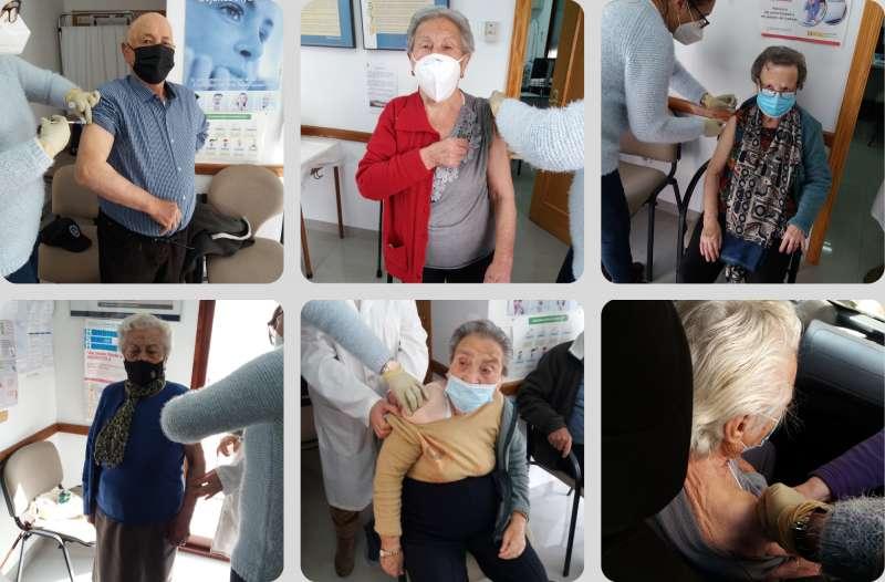 Las seis personas vacunadas en Teresa