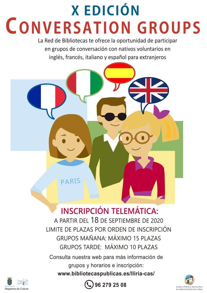 Cartel de Grupos de conversación. / EPDA