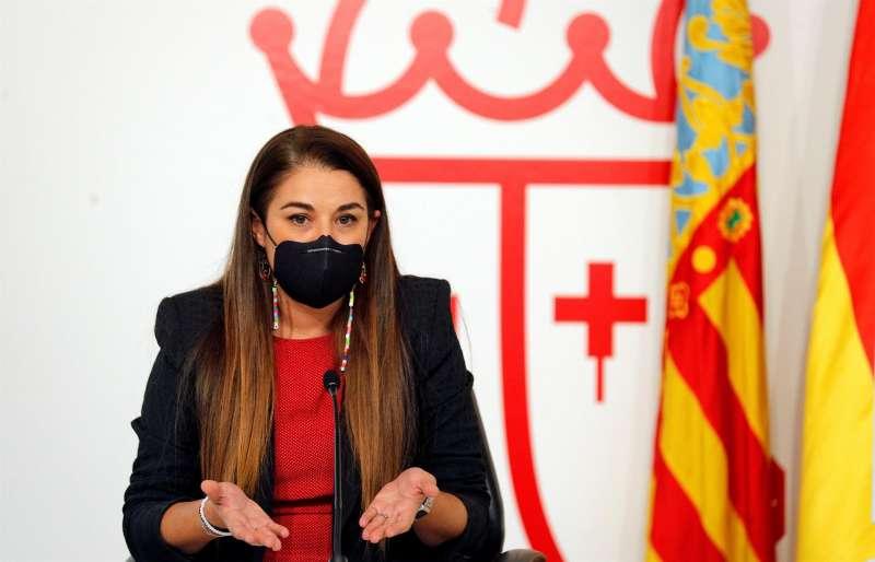 La consellera Mireia Mollà en una rueda de prensa. Archivo/ EFE/Manuel Bruque