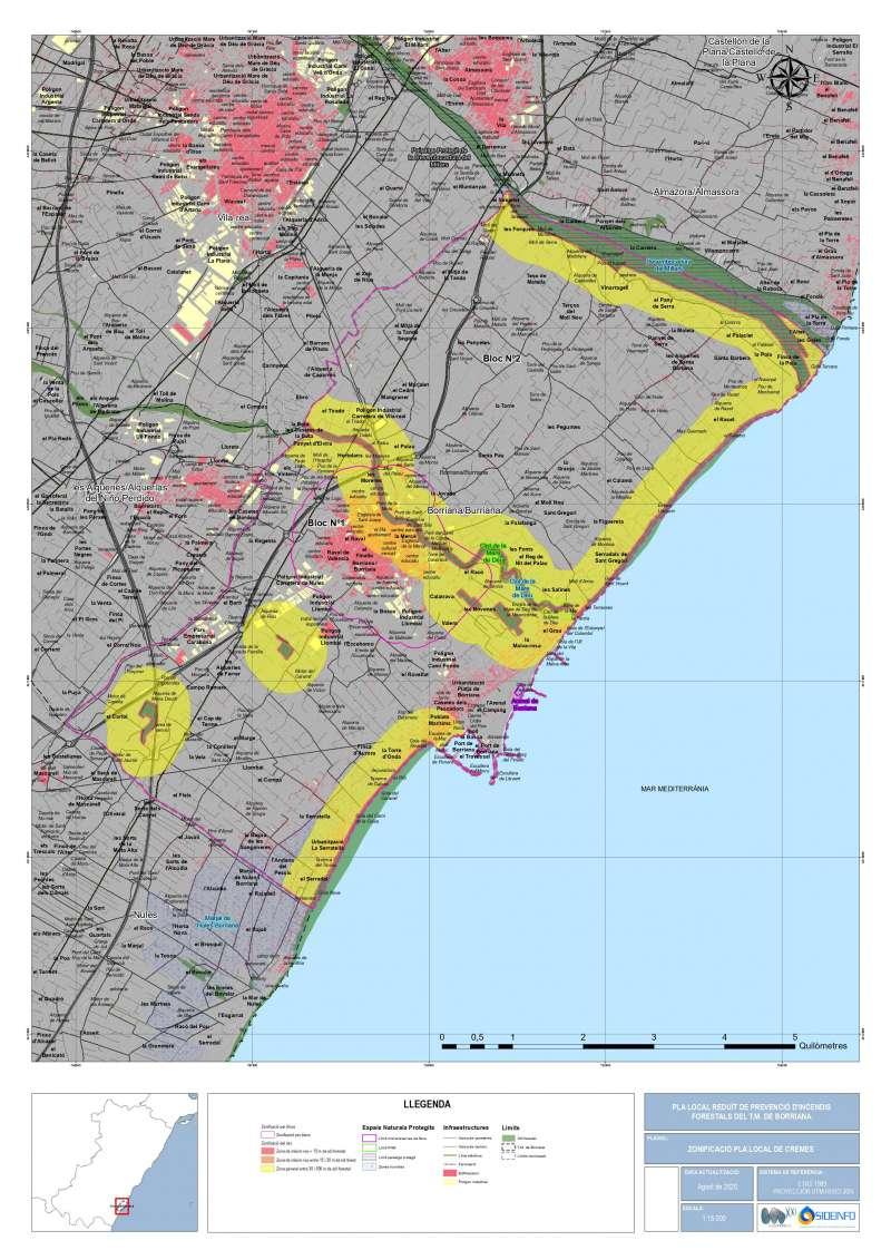 Mapa pla  de cremes/EPDA