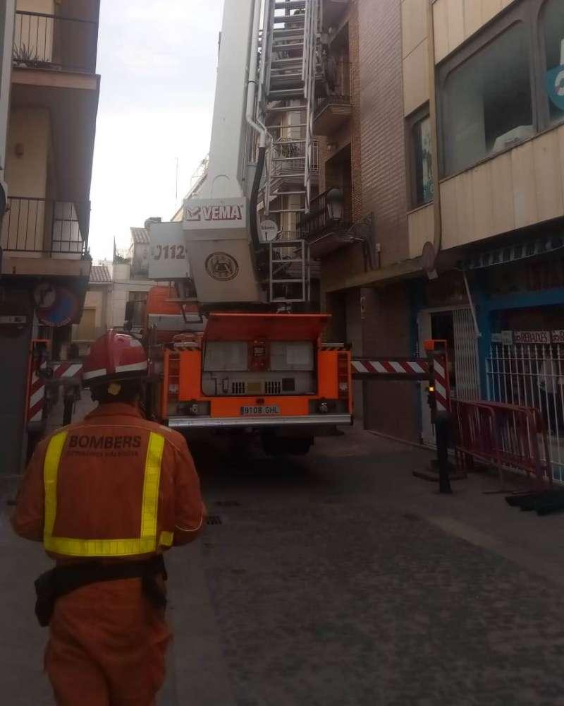 Los bomberos actúan en Paterna. EPDA