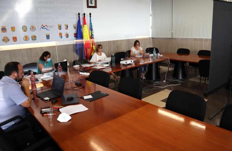 Instante del Pleno de la Mancomunitat celebrado esta tarde. / EPDA