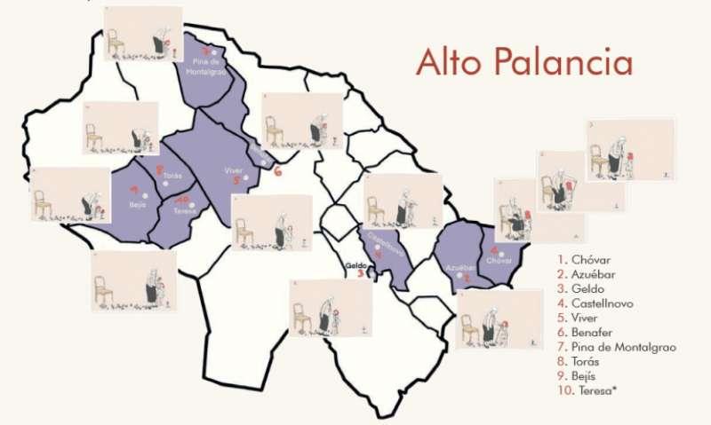 Distribución de murales en los municipios que los solicitaron