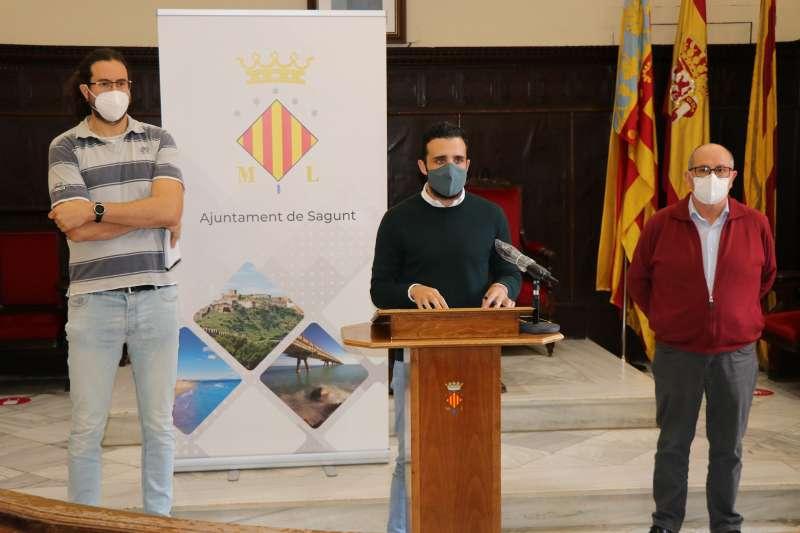 El Ayuntamiento de Sagunto. Darío Moreno, alcalde del municipio durante la rueda de prensa. EPDA.